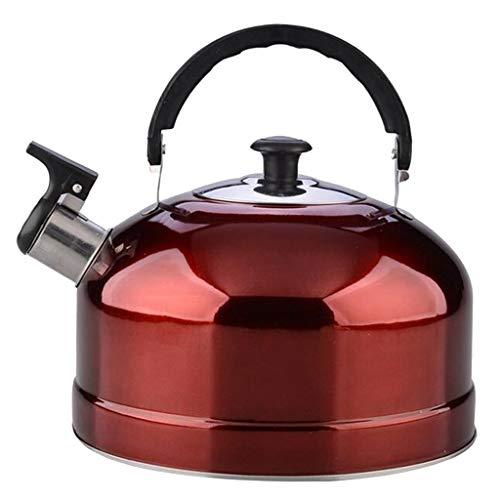 perfk Tetera de Cocina 4L de Acero Inoxidable para Acampar Al Aire Libre