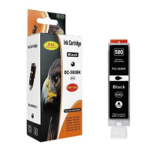 1 Druckerpatrone kompatibel zu PGI-580BK Text Schwarz für Canon Pixma TR7550 TR8550 TS6150 TS6151 TS8150 TS9150 TS8251 TS8151 TS9155 TS8152 TS8250