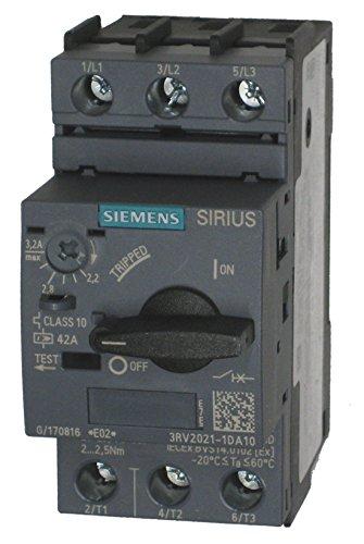 FURNAS ELECTRIC CO 3RV20211DA10 3POLE, Motor Protection Circuit Breaker, 2.2-3.2AMP, 690VAC