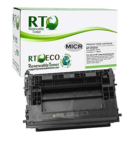 Renewable Toner Compatible MICR High Yield Toner Cartridge Replacement for HP 37X CF237X Laserjet Enterprise M608, M609, M631, M632, M633�