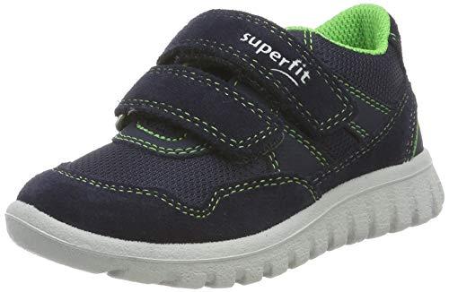 Superfit Baby Jungen SPORT7 MINI' Sneaker, Blau (Blau/Grün 80), 27 EU