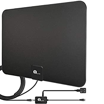 Amplified HD Digital TV Antenna - Support 4K 1080p and All Older TV s - Indoor Smart Switch Amplifier Signal Booster - Coax HDTV Cable/AC Adapter
