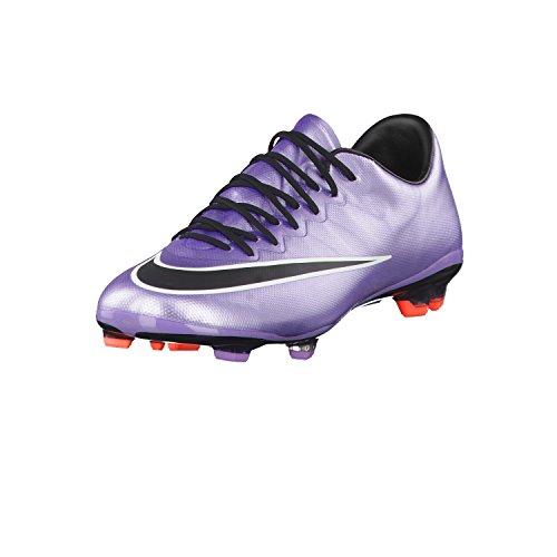 Nike Damen Jr Mercurial Vapor X FG Fitnessschuhe, Silber/Schwarz/Weiß/Flieder (Urban Lilac Blck Brght MNG Wht), 38.5 EU
