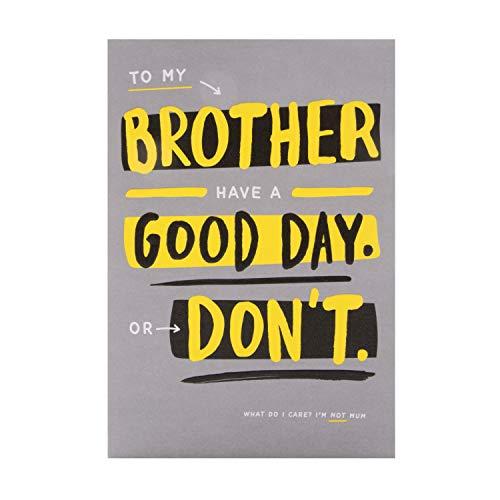 Verjaardagskaart voor Broer van Hallmark - Hedendaagse Humour Design