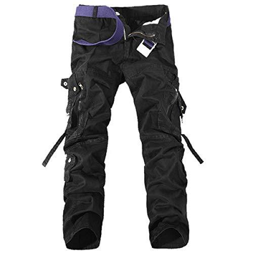 Herren Army Style Cargo Losestrapazierfähige atmungsaktive Cargo Combat Work Freizeithose Mid Waist Pocket Running Pant