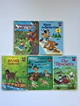 Disney's Wonderful World of Reading (5 Book Set) Donald Duck Buys A House -- Pluto the Detective -- Bambi Grows Up -- Lambert the Sheepish Lion -- The Rescuers.