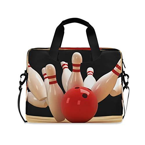 HMZXZ Sport Bowling Ball Laptoptasche 13 14 15.6 Zoll Laptop Tasche Aktentasche Hülle Notebooktasche Schulter Tasche Handtasche für Arbeit Business Uni