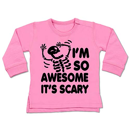 Shirtracer Halloween Baby - I'm so Awesome It's Scary - schwarz - 12/18 Monate - Pink - Halloween - BZ31 - Baby Pullover