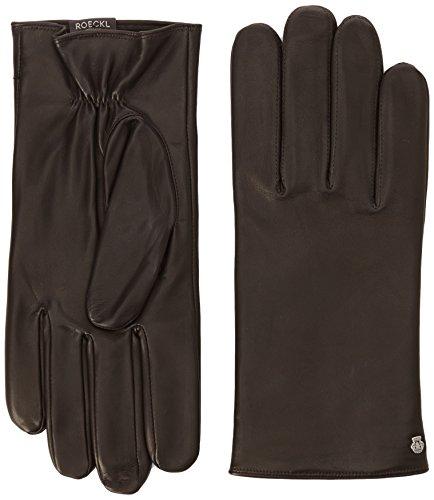 Roeckl Herren Klassiker Fleece Handschuhe, Braun (Mocca 790), 8