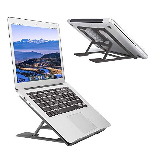 "Adjustable Laptop Stand?Ventilated Portable Ergonomic Notebook Riser for Desk,Multi-Angle Adjustable Portable Anti-Slip Mount for MacBook, Surface Laptop, Notebook, 10""-17"" Tablet (Black)"