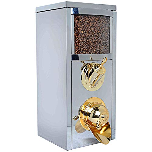 Great Price! New Model Best Coffee Bean Dispenser Stainless Steel, 58H x 25D x 25W
