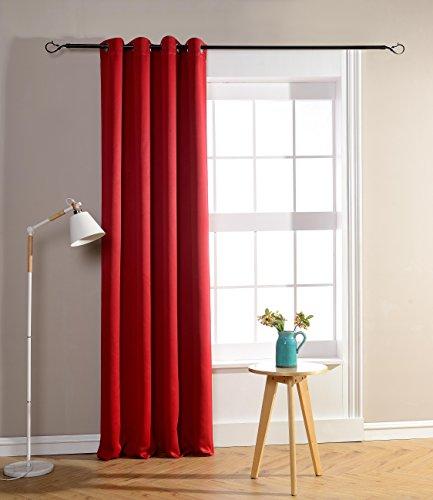 Rideau occultant Rouge 140 x 260 cm