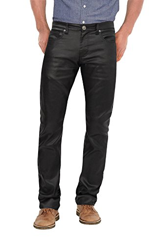 Ethanol Stretch Fashion Casual Leather Pants APL44798SK PK3 Black 36