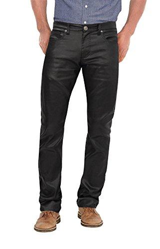 Agile Stretch Fashion Casual Leather Pants APL44798SK PK3 Black 34