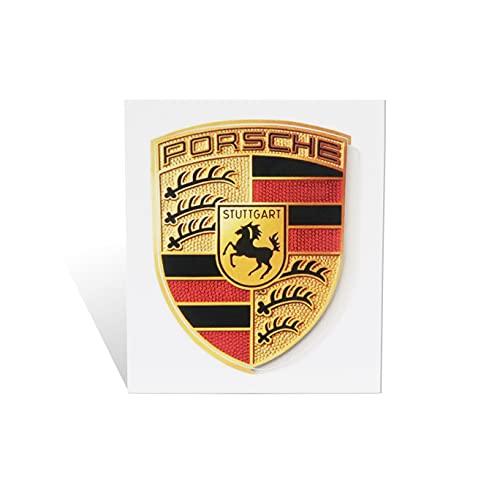 Porsche Crest Sticker Logo (65mm X 53mm) - GT3 RS 4.0/GT2 Style Porsche Emblem Logo Sticker Including Wipe (1)