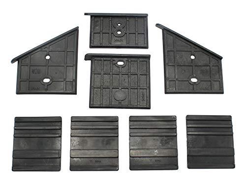 SECURA Kunststoffführungen unten + oben kompatibel mit Zipper Zi-HS8 Holzspalter