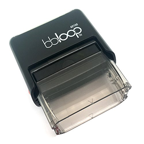 "BBloop Stamp""First Class Mail International"" Self-Inking, Rectangular. RED Ink Photo #2"