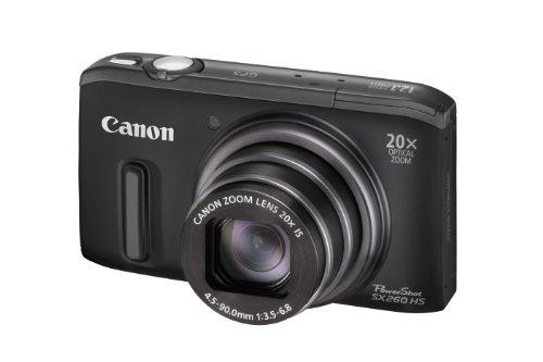 Canon PowerShot SX 260 HS Digitalkamera (GPS, 12,1 MP, 20-fach opt. Zoom, 7,6cm (3 Zoll) Display, bildstabilisiert) schwarz