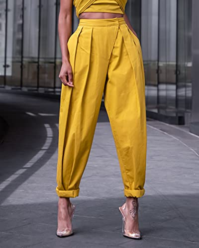 The Drop Women's Citronelle Sculpted Pleat Pull-on Pants by @signedblake