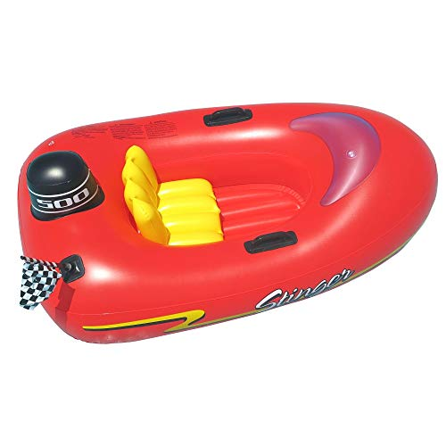 Swimline Speedboat Inflatable Kids Float, Red