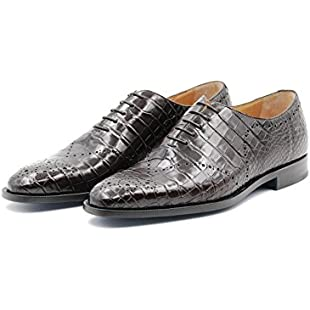 Sutor Mantellassi Oxford Shoes in Crocodile Leather (11 UK Men, Glossy Brown):Schedulingsoftware