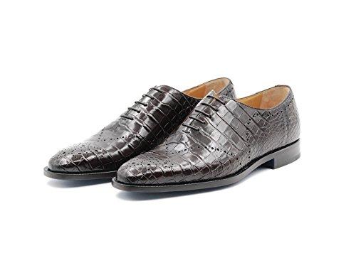 Zapatos Sutor Mantellassi de Cuero de cocodrilo (45 EU, Marrón Oscuro)