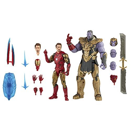 Marvel Legends Saga do Infinito, Kit com 2 Figuras de 15 cm - Homem de Ferro Mark 85 e Thanos - F0192 - Hasbro