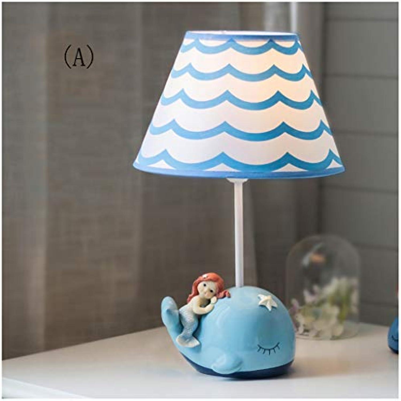 YYF Nachttischlampe der Meerjungfraukinder, Karikaturtiertischlampe, kreatives romantisches und reizendes Mdchen (Farbe   A-19cmx32cm)