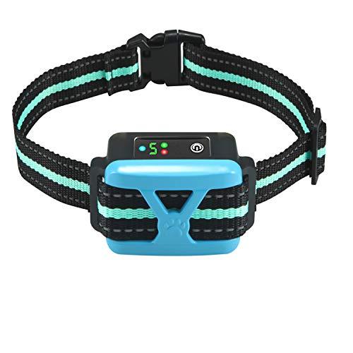 Dog Bark Collar, Anti Barking Collar with 5 Adjustable Levels, Harmless Shock, Beep Vibration, Smart Correction and LED Indicator-Reachargeable No...