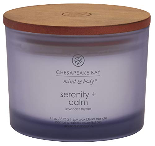 Chesapeake Bay Candle Scented Candle, Serenity + Calm (Lavender Thyme), Coffee Table