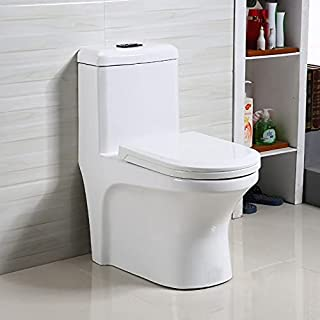 Preks Ceramic One-Piece Toilet Western Commode For Bathroom (S-Trap)