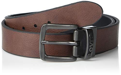 Levi's Big Boys Levi's Boys Reversible Belt With Stitch Edge, Brown/black, S