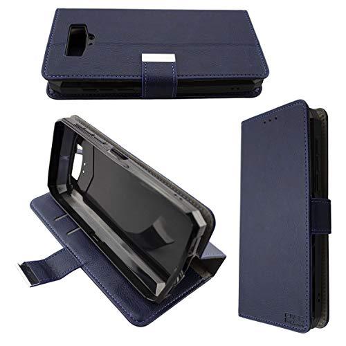 caseroxx Handy Hülle Tasche kompatibel mit Blackview BV9100 Bookstyle-Hülle Wallet Hülle in blau