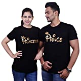My Fashion World Prince and Princess Printed Cotton T-Shirts for Couples