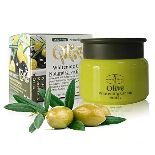 Gesichtspflege Creme, Whitening Gesichtscreme Anti Aging Augencreme Augenfältchen Augenpflege Straffende Essenz(Olive)