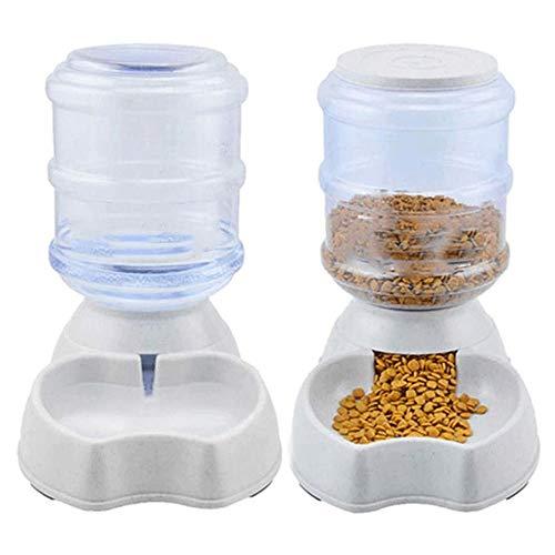 Grote haai Automatische Huisdier Voedsel Feeder & Waterer Dispenser Set, Auto Zwaartekracht Aanvullen Water Eten Bowl Opslag Container Vul milieu PP