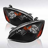 Autozensation For Altima Base SE SL JDM Black Headlights w/Amber Reflector Pair