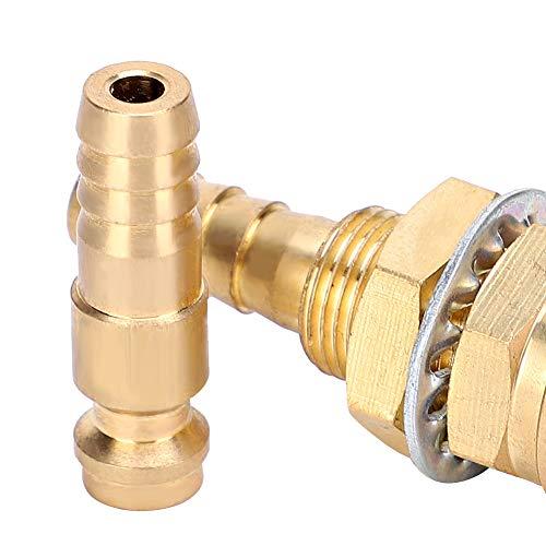 Adaptador de gas Antorcha de soldador MIG Adaptador refrigerado por agua Conector rápido Ajuste amarillo, azul, rojo para antorcha de soldador para antorcha de soldador MIG para antorcha de(yellow)