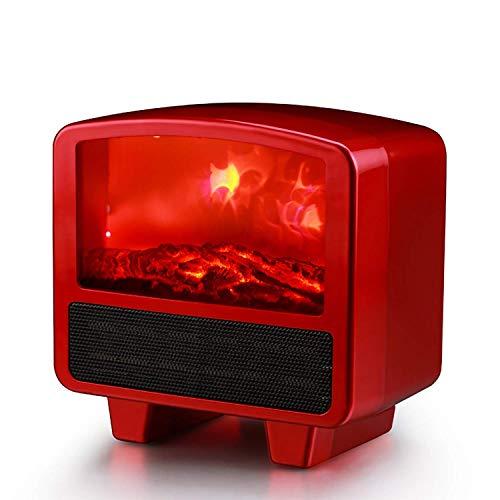 XIANGAI Calefactor Pequeños electrodomésticos Calentador eléctrico Mini Ventilador portátil Calentador de Espacio útil del Calentador hogar con LED Realista Efecto de la Llama 1000 W overheati.