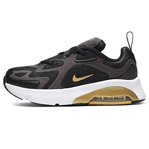 Nike Air MAX 200 (PS), Zapatillas para Correr para Niños, Negro/Dorado Metalizado/Antracita/Blanco, 30 EU