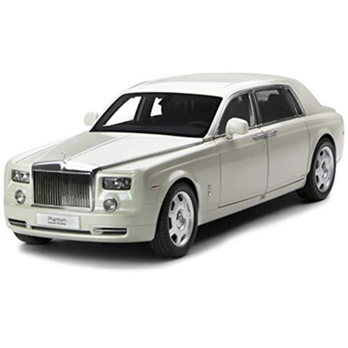 GAOQUN-TOY Model Car 01:18 Rolls-Royce Phantom Alliage Simulation Métal Model Car Collection Décoration (Color : White, Size : 31cm*11cm*9cm)