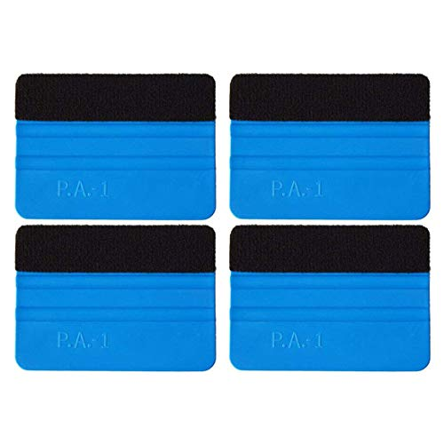4 Pack Felt Squeegee Wrapping Tool, 4'' Inch Premium Scratch-Proof Decal Vinyl Wrap Squeegee Handy Tools for Vinyl Installation, Scrap Booking, Wall Decals