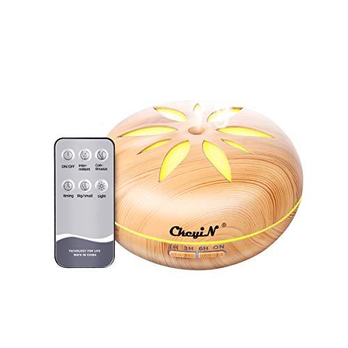 【CkeyiN】アロマディフューザー 超音波 アロマ加湿器 木目調 550ml