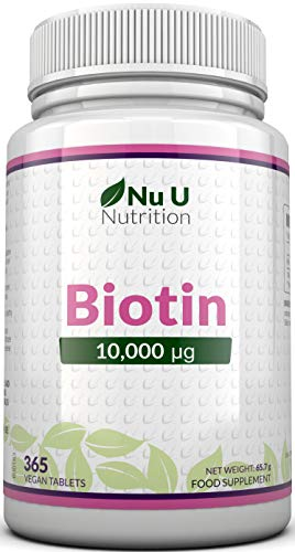 Biotin Hair Growth Supplement | 365 Tablets (Full Year Supply) |...