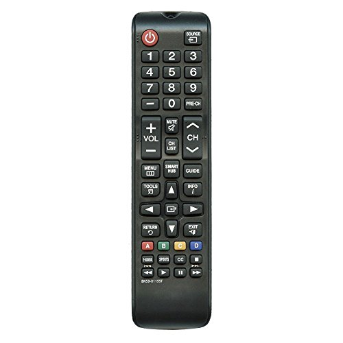 New BN59-01199F Replacement Remote Control for Samsung UN32J4500AF UN32J525DAFXZA UN43JU640DF UN60J6200AF UN60J6200AFXZA UN60J620DAF UN60J620DAFXZA UN60JU6400F UN60JU6400FXZAL ED LCD HDTV