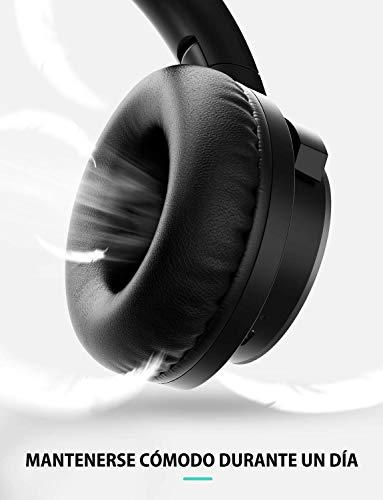 Mpow H18 Auriculares con Cancelación de Ruido, 50 Horas de Duración, CVC 6.0, Cascos con Cancelación Ruido con Hi-Fi Sonido, Auriculares Diadema Bluetooth Plegable para TV/PC/Tableta/Móvil