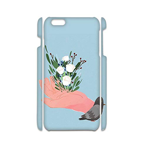 con Flower 1 Caja del Teléfono De La Pc Mujer Compatible con Apple iPhone 7 8 Kawaii Choose Design 117-4