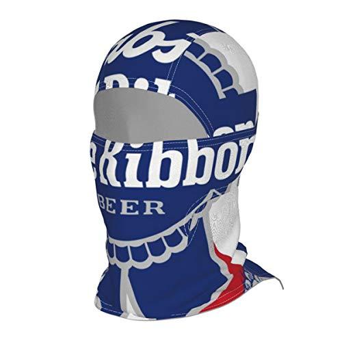 EYFlife Pabst Blue Ribbon Beer Logo Winter Ski Mask Balaclava Hood - Wind-Resistant Face Mask