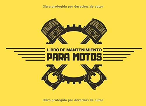 Libro de Mantenimiento para Motos: Registro de mantenimiento y reparación de motocicletas - 20,96 cm x 15,24 cm, 101 páginas - Páginas prefabricadas ... su moto - Adecuado para todos los fabricante.