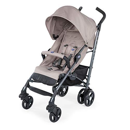 Chicco Liteway 3 - Silla de paseo ligera y compacta, soporta hasta 22kg, color marrón (Dart Beige)